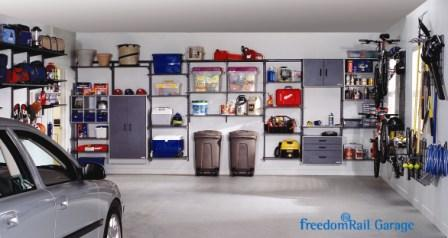 Schulte freedomRail Garage with car