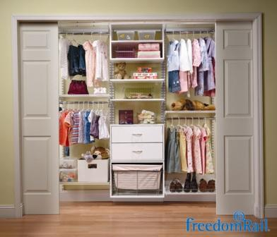 Schulte freedomRail reach in closet for kids