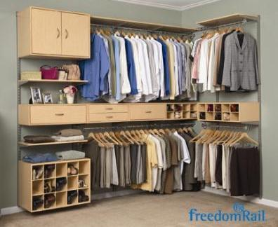 FreedomRail® By Organized Living. Double Hang Closet In Maple