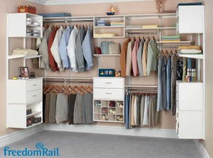Beau FreedomRail® By Organized Living. Walk In Closet In White