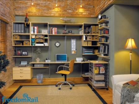 Schulte freedomRail home office in maple