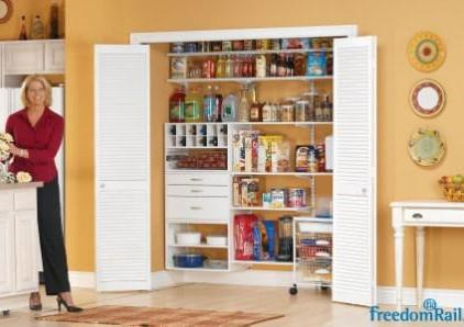 Schulte freedomRail pantry in white